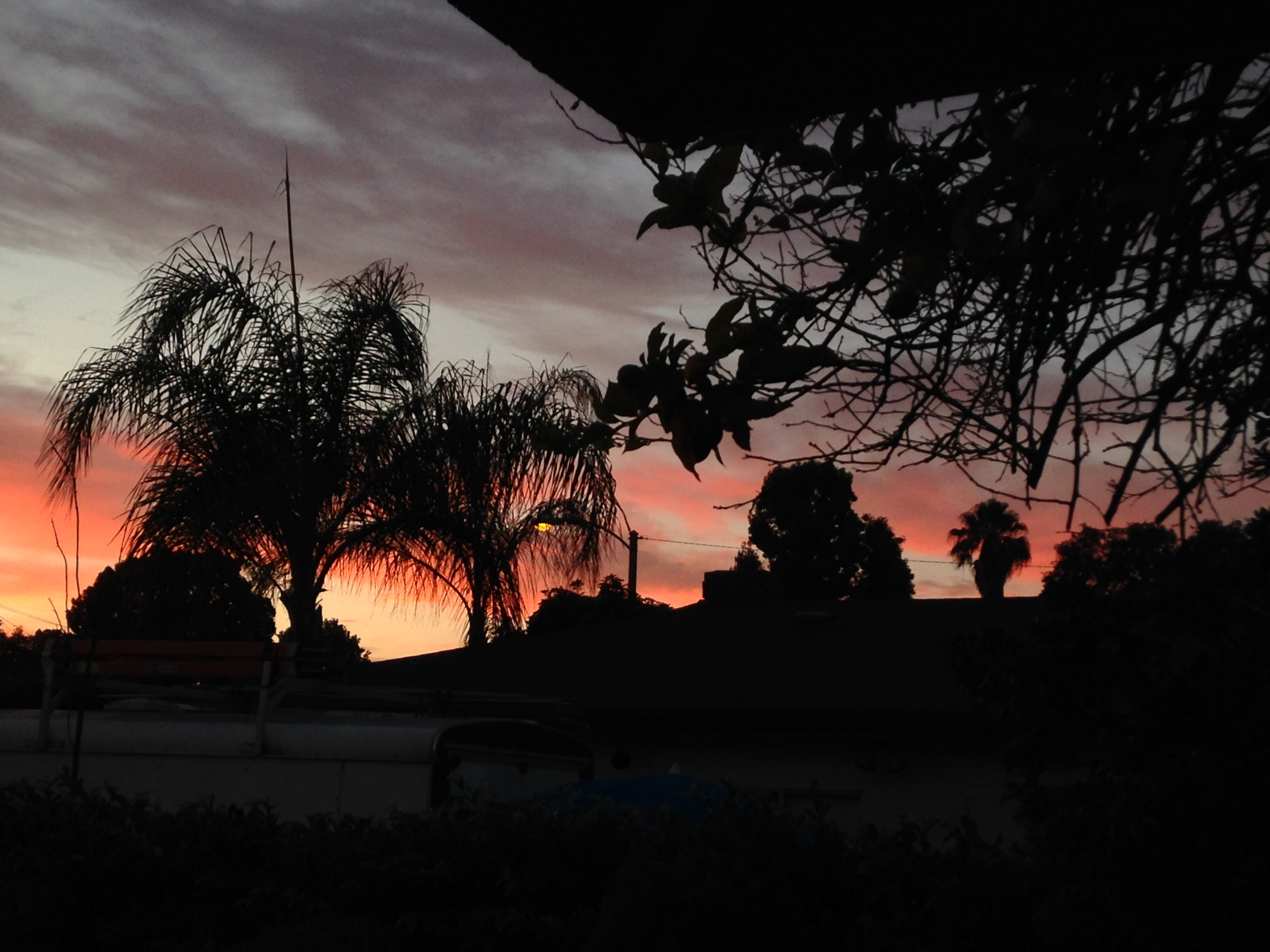 Sunset from my front porch in Burbank.