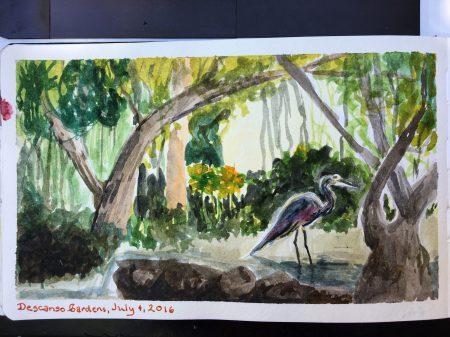 Descanso Gardens heron
